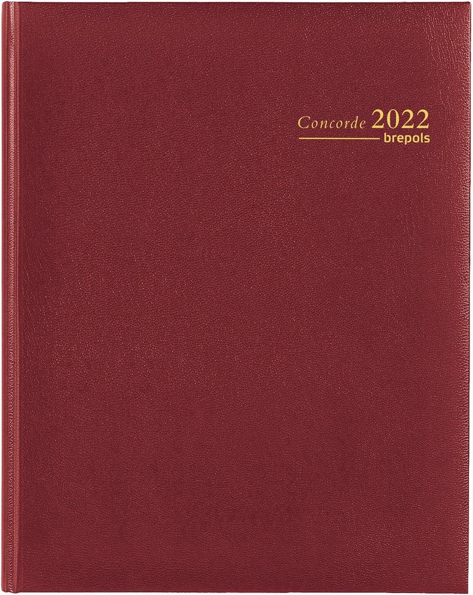 Brepols agenda Concorde Lima 6-talig, bordeaux, 2022