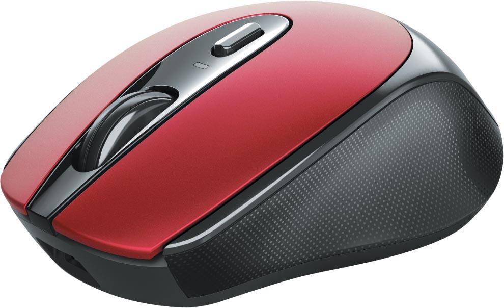 Trust oplaadbare draadloze muis Zaya, rood