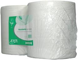 Europroducts toiletpapier Maxi Jumbo, 2-laags, 380 meter, eco, pak van 6 rollen