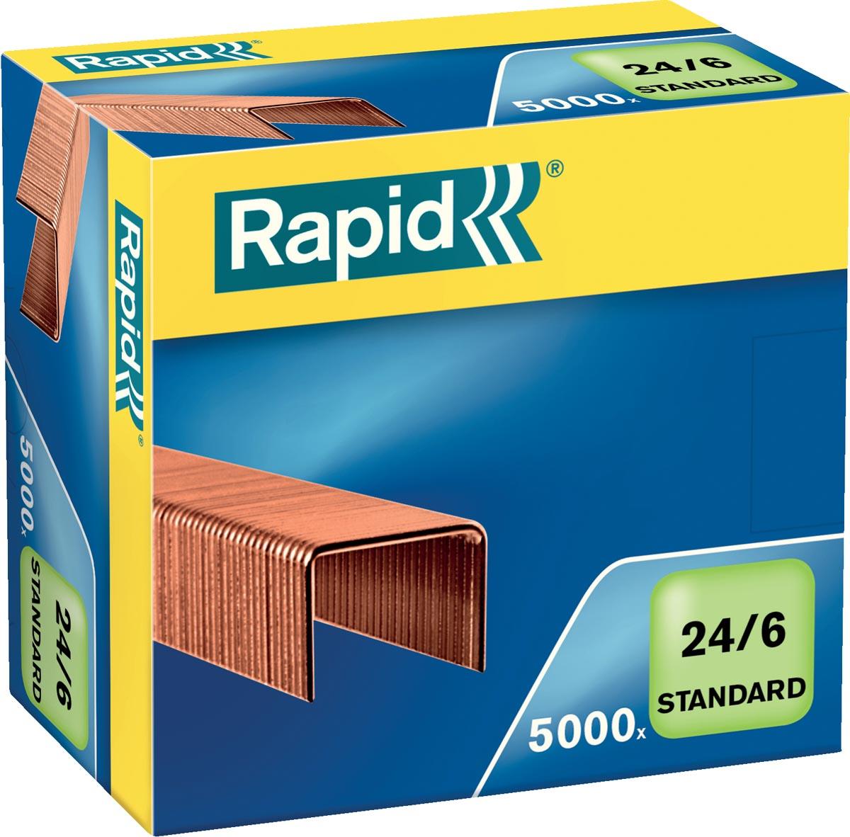 Rapid Nietjes 24/6, koper, doos van 5.000 nietjes