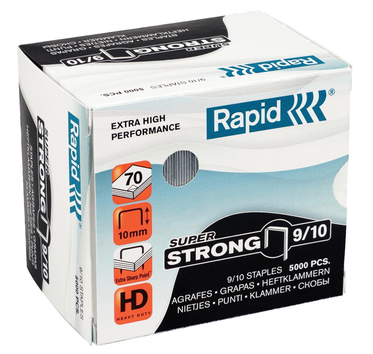 Rapid SuperStrong nietjes 9/10, gegalvaniseerd, doos van 5000 stuks