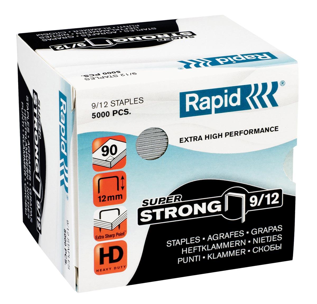 Rapid SuperStrong nietjes 9/12, gegalvaniseerd, doos van 5000 stuks