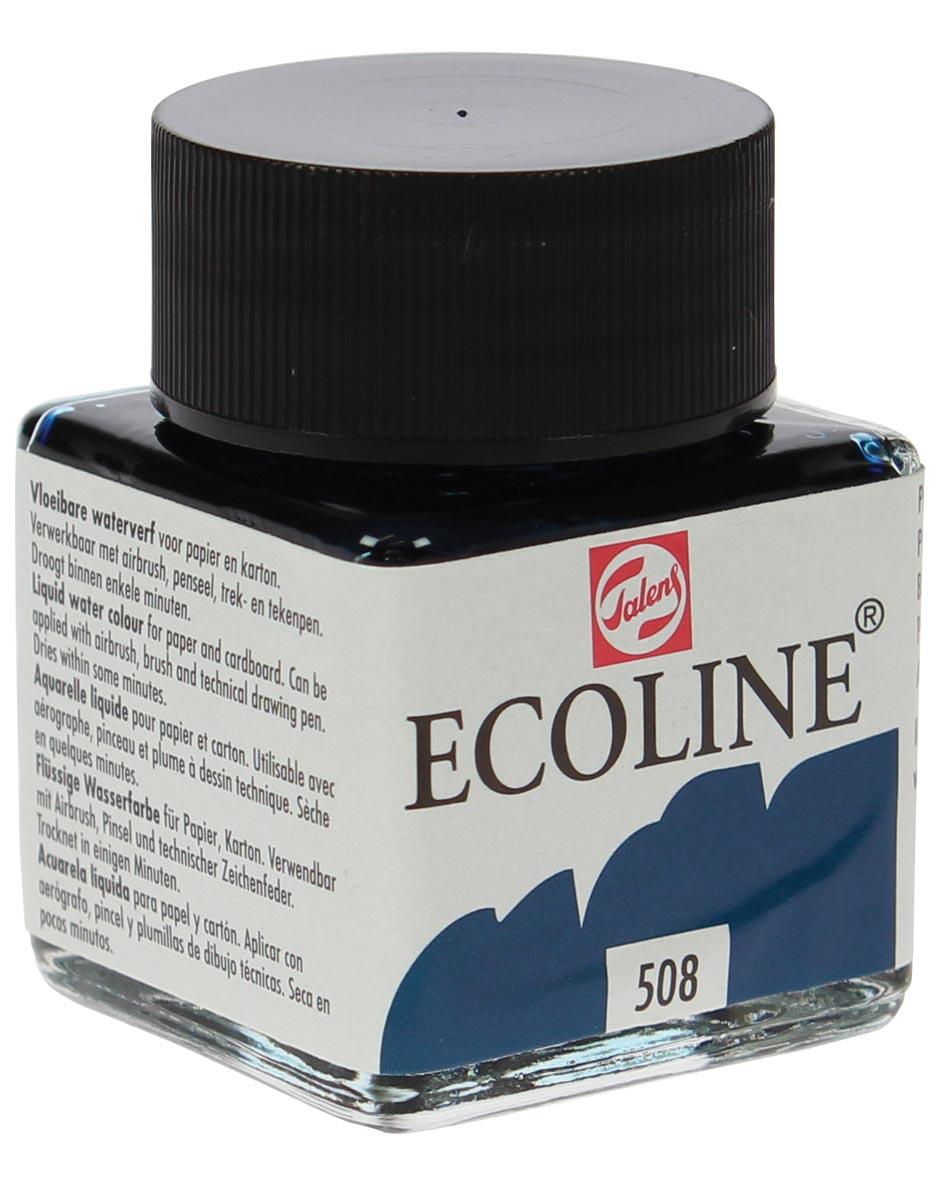 Talens Ecoline waterverf flacon van 30 ml, pruisischblauw