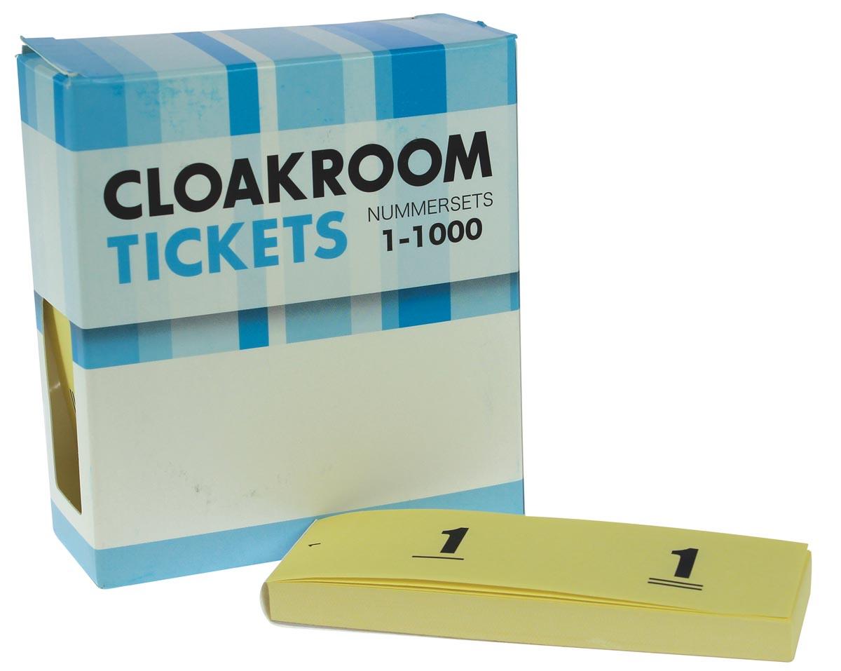 Nummer-/ garderobeblokken geel