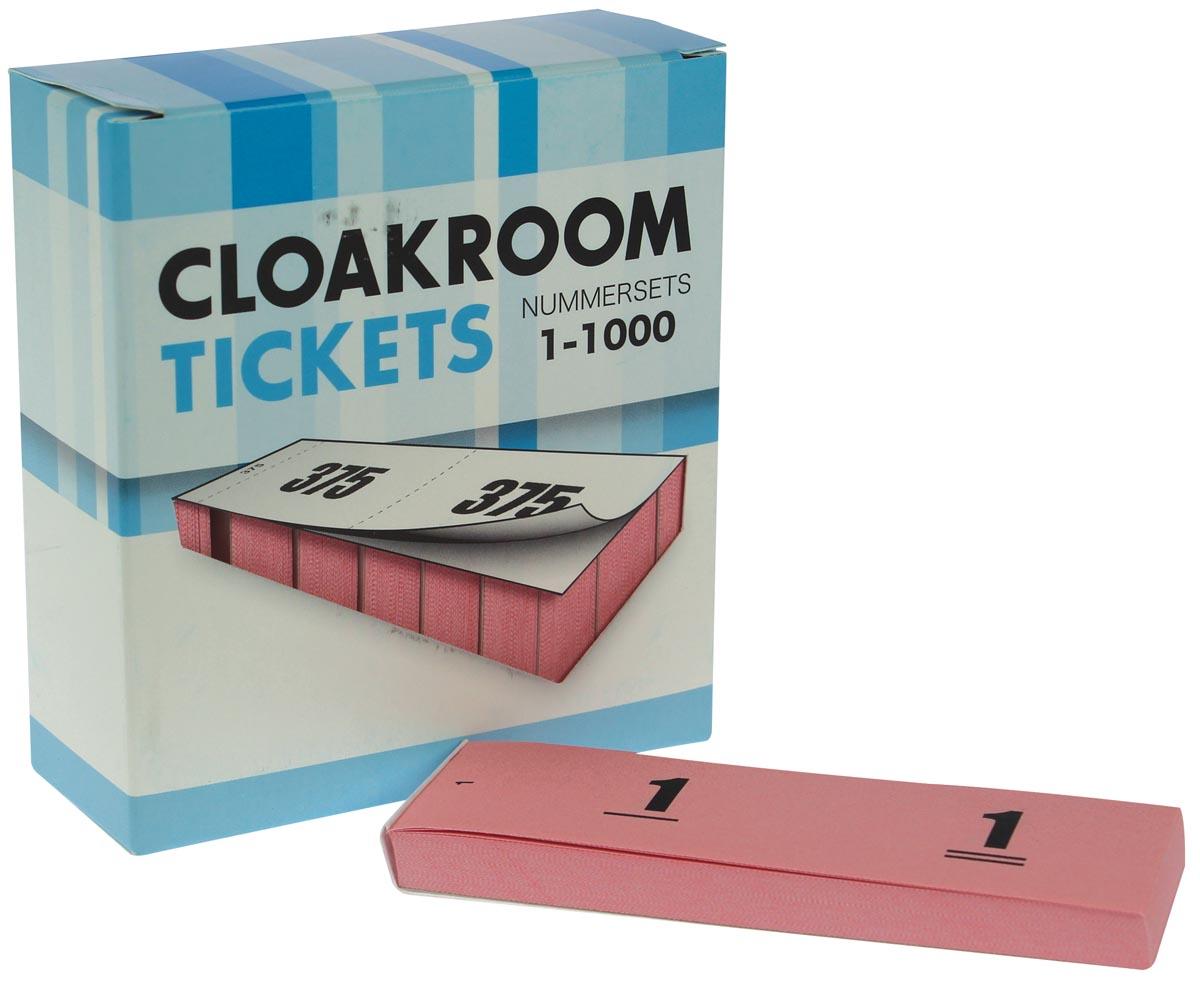 Nummer-/ garderobeblokken roze
