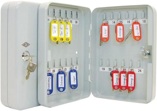 Wedo sleutelkast voor 24 sleutels, ft 18 x 6 x 25 cm, grijs-2