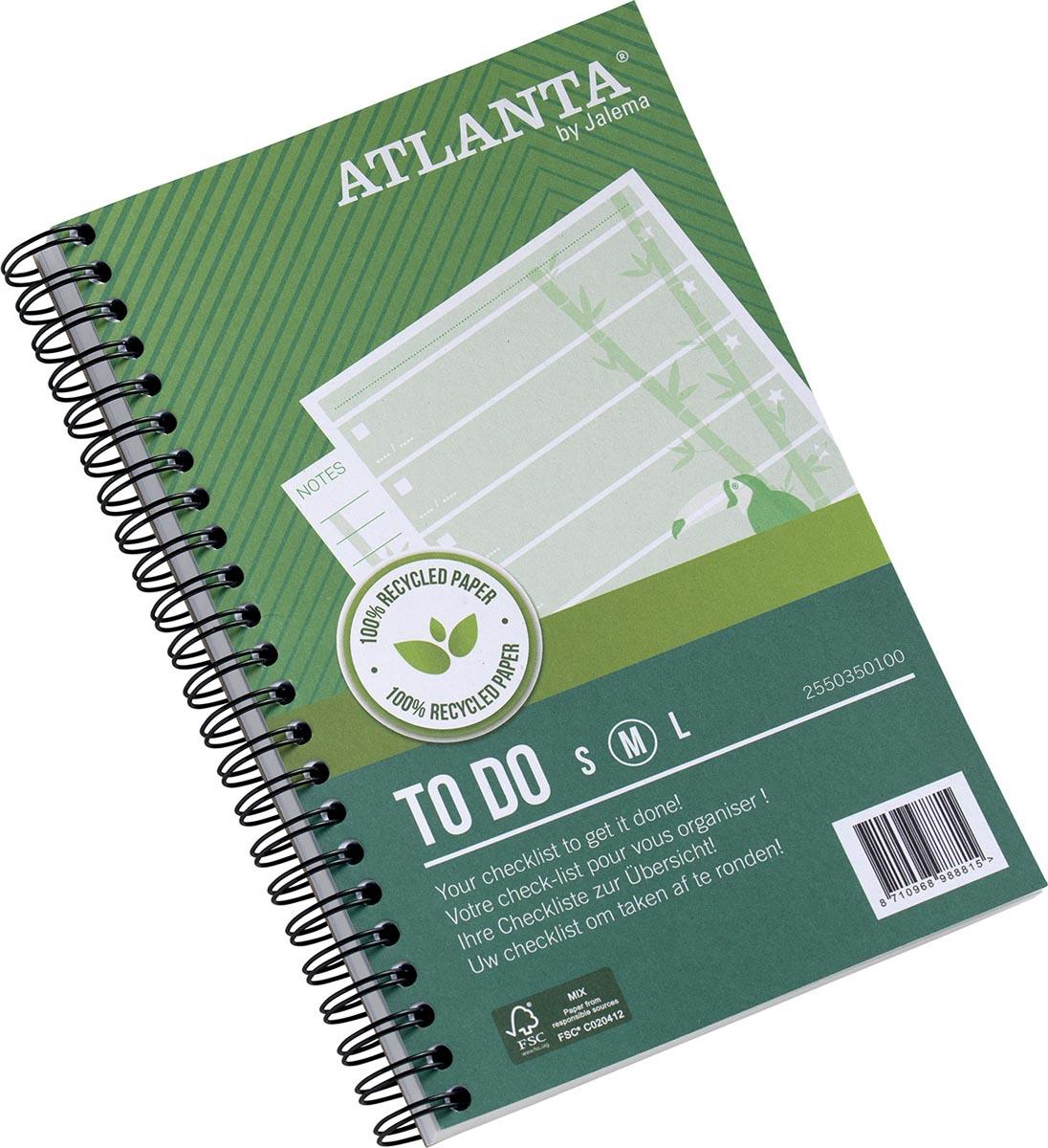 Atlanta by Jalema notitieboekje To Do 'Jungle' ft 125 x 195 mm, 200 bladzijden, pak van 2