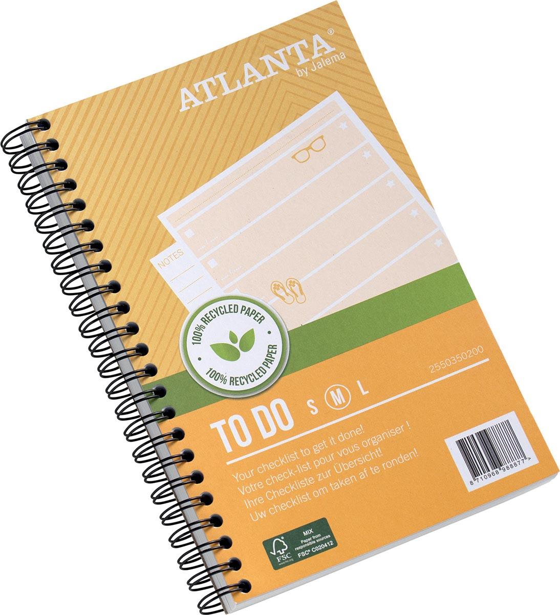 Atlanta by Jalema notitieboekje To Do 'Summer' ft 125 x 195 mm, 200 bladzijden, pak van 2