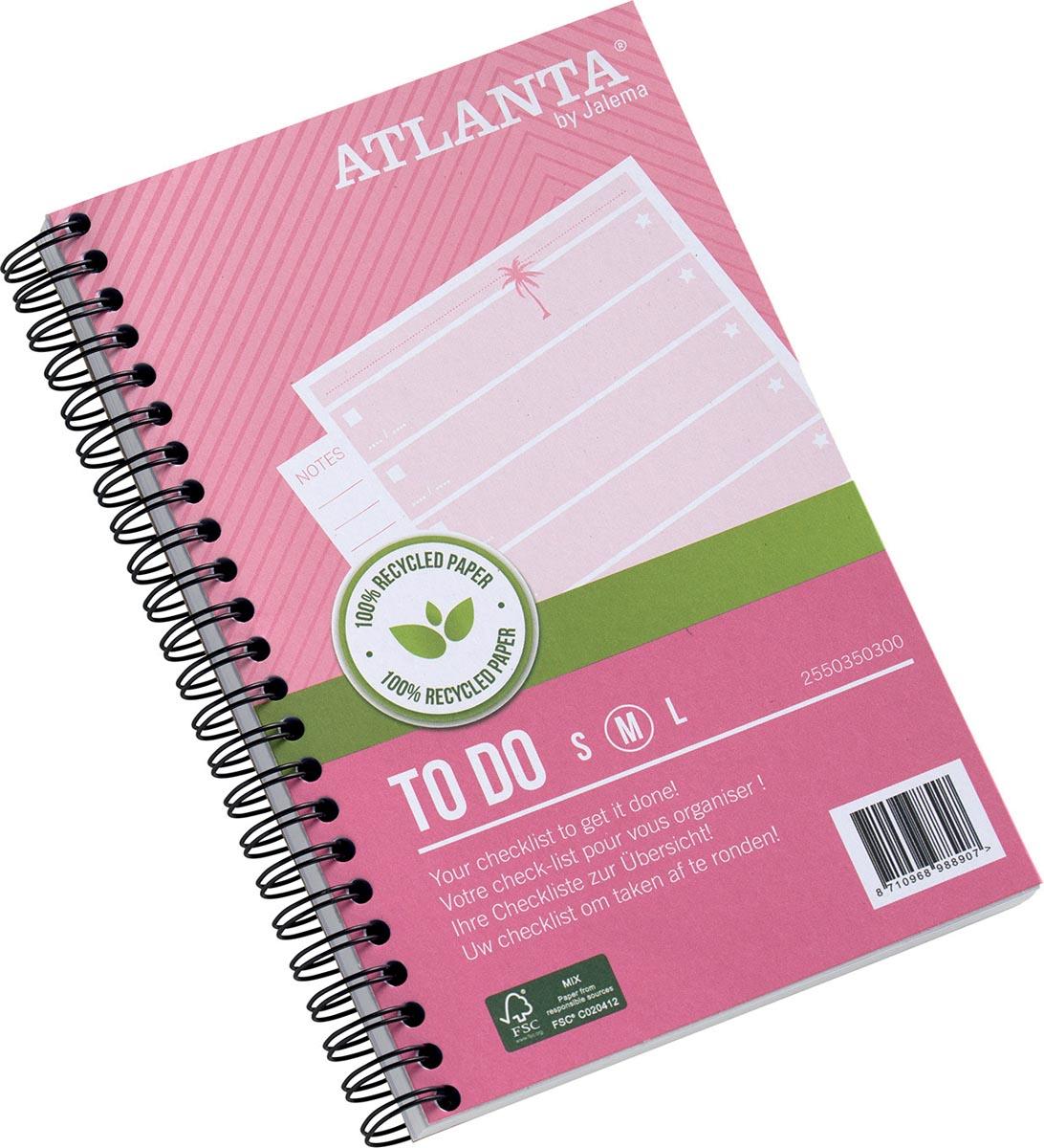 Atlanta by Jalema notitieboekje To Do 'Tropical' ft 125 x 195 mm, 200 bladzijden, pak van