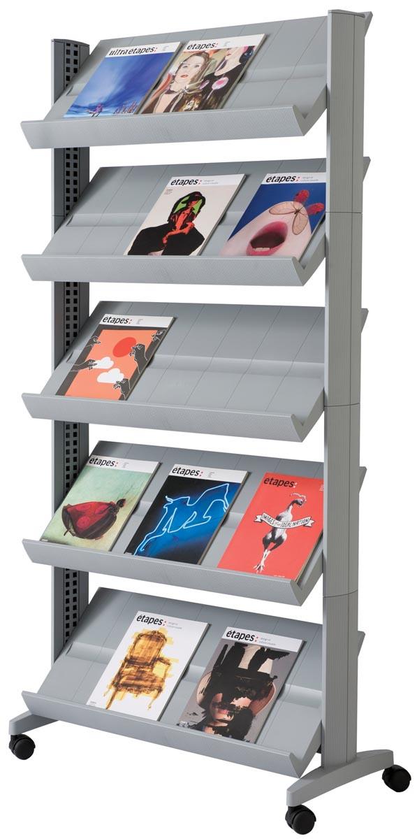 Paperflow Mobiele folderhouder  Large zilver