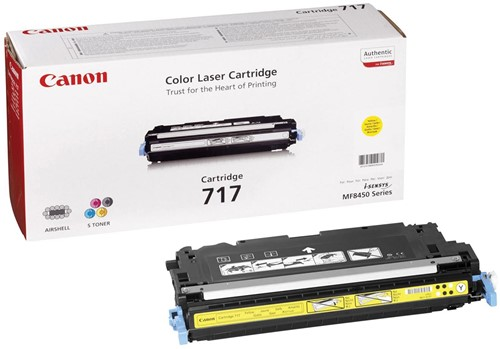 Canon Tonercartridge geel 717Y - 4000 pagina's - 2575B002
