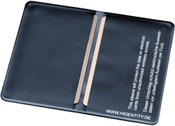 Hidentity dubbele kaarthouder, ft 87 x 57 mm, zwart