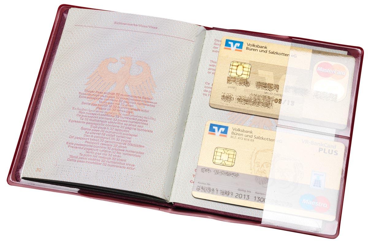 Hidentity Paspoort- & 2 creditcardcover RIFD beschermhoes Zwart