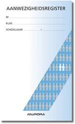 Mano aanwezigheidslijst Nederlandstalig, ft 15,5 x 26 cm, 90 g/m², 48 bladzijden