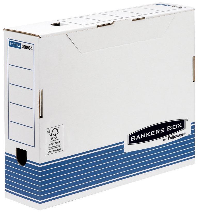 Archiefdoos Bankers Box standaard 80mm blauw-wit