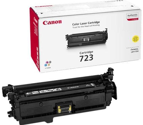 Canon toner 723Y, 8.500 pagina's, OEM 2641B002, geel