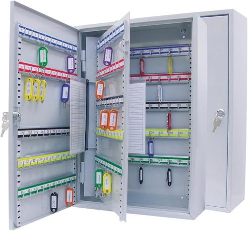 Wedo sleutelkast voor 150 sleutels, ft 38 x 14 x 55 cm, grijs
