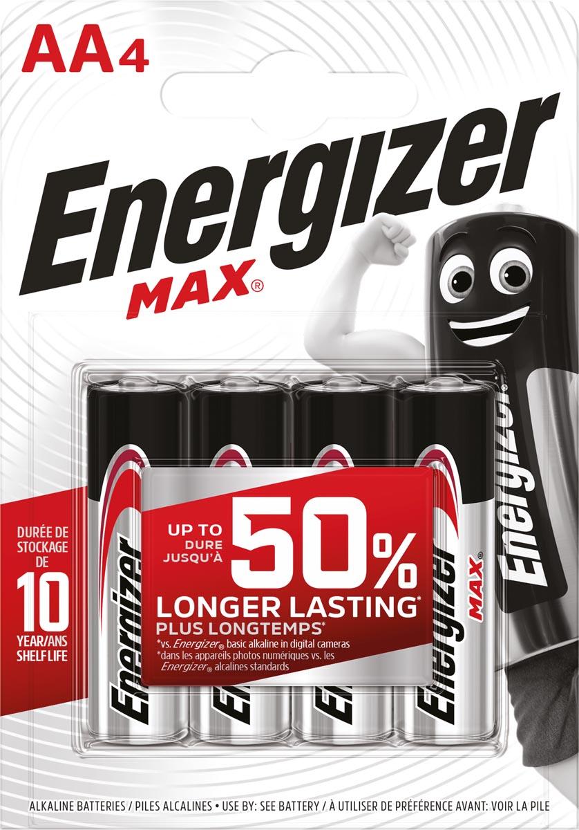 Energizer batterijen Max AA, blister van 4 stuks