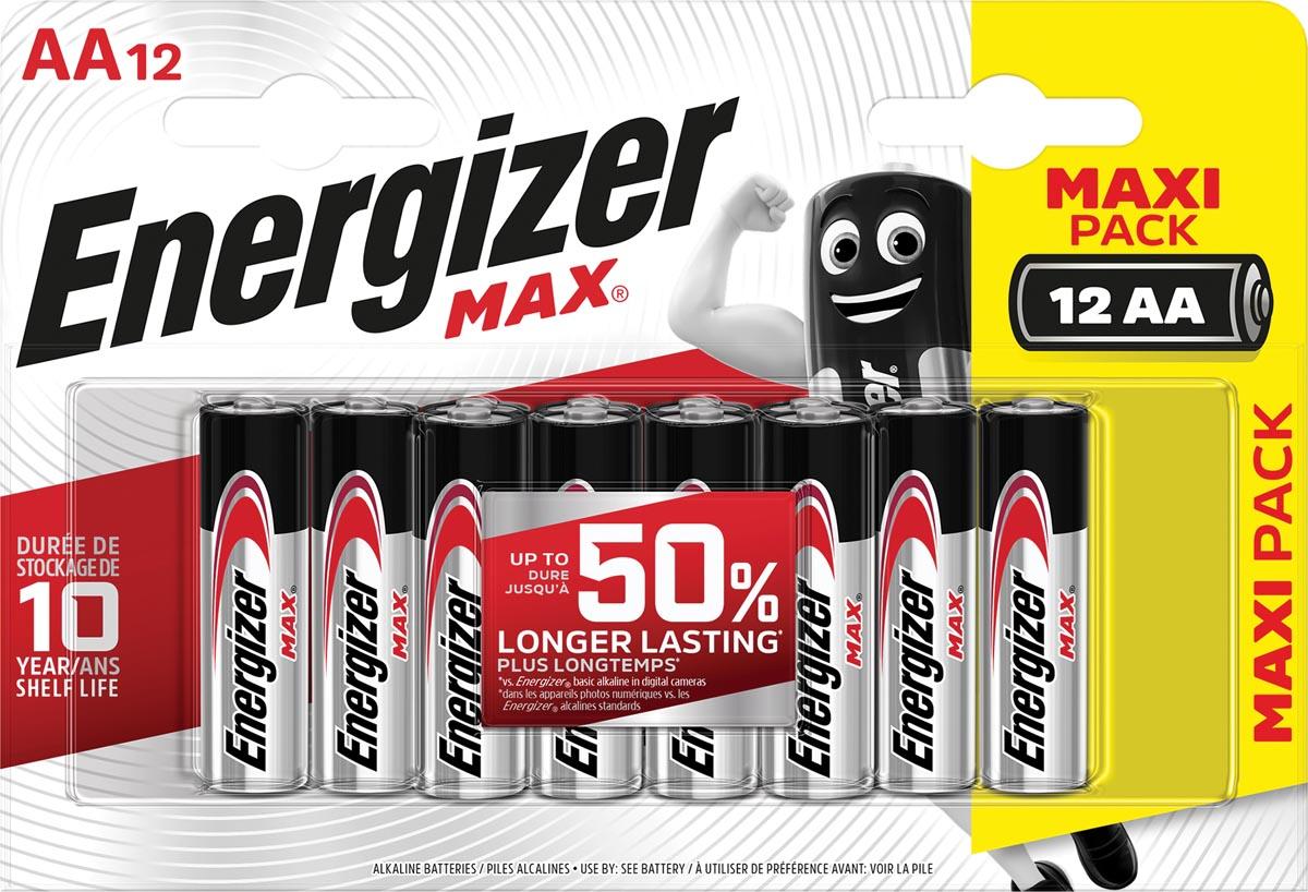 Energizer batterijen Max AA, blister van 12 stuks