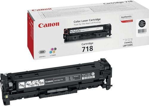 Canon Tonercartridge zwart 718BK - 3400 pagina's - 2662B002