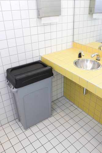 Rubbermaid deksel voor afvalcontainer Slim Jim, tuimeldeksel, zwart-2