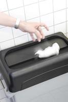 Rubbermaid deksel voor afvalcontainer Slim Jim, tuimeldeksel, zwart-3