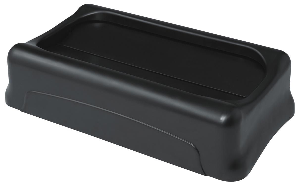 Rubbermaid deksel voor afvalcontainer Slim Jim, tuimeldeksel, zwart