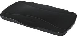 Rubbermaid deksel voor afvalcontainer Slim Jim, scharnierend deksel, zwart