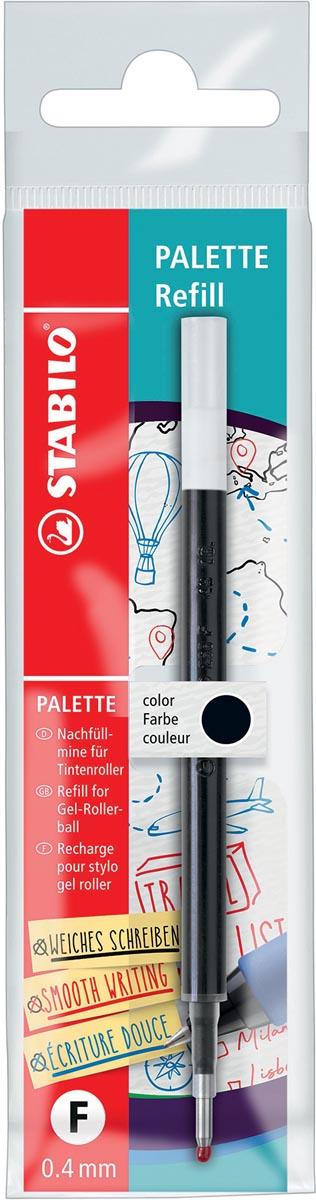 STABILO PALETTE gel roller navulling, 0,4 mm, zwart
