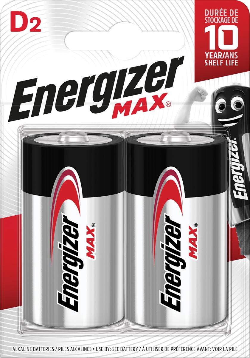 Energizer batterijen Max D, blister van 2 stuks