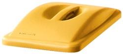 Rubbermaid deksel voor afvalcontainer Slim Jim, met handgreep, geel