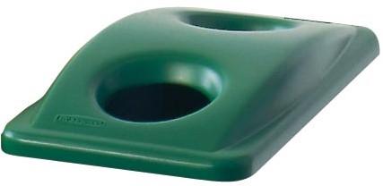 Rubbermaid deksel voor afvalcontainer Slim Jim, voor flessen en groen afval, groen