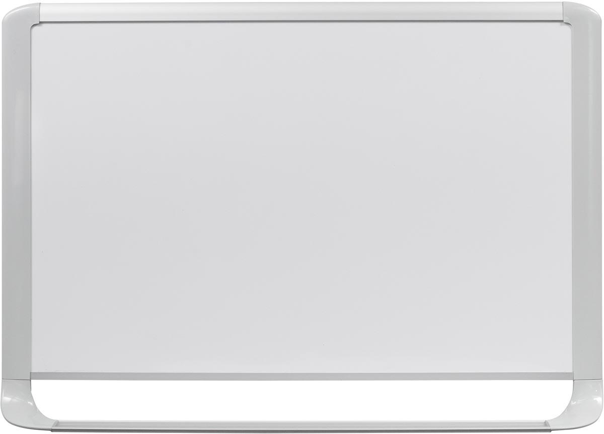 Bi-Office MasterVision emaille whiteboard met lichtgrijze kader ft 180 x 120 cm