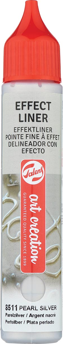 Talens Art Creation effect liner, parel zilver