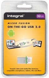 Integral Micro USB 2.0, 2 in 1 on the go, 32 GB