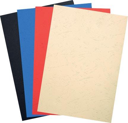 Exacompta omslagen uit lederprint ft A4, 270 micron, pak van 100 stuks, geassorteerde kleuren
