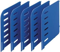 Styrorac scheidingswanden, doos van 5, blauw