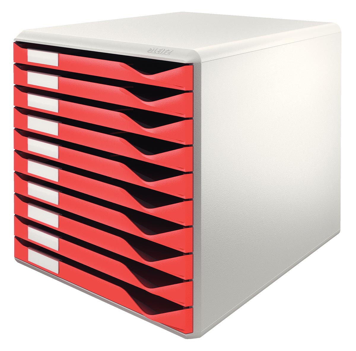 Leitz ladenblok lichtgrijs/rood