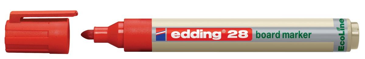 Viltstift Edding 28 whiteboard Eco rond rood 1.5-3mm