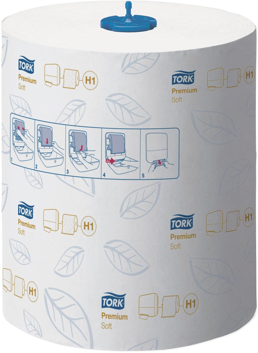 Tork Premium Matic® zachte handdoekrol, 2-laags, systeem H1, wit