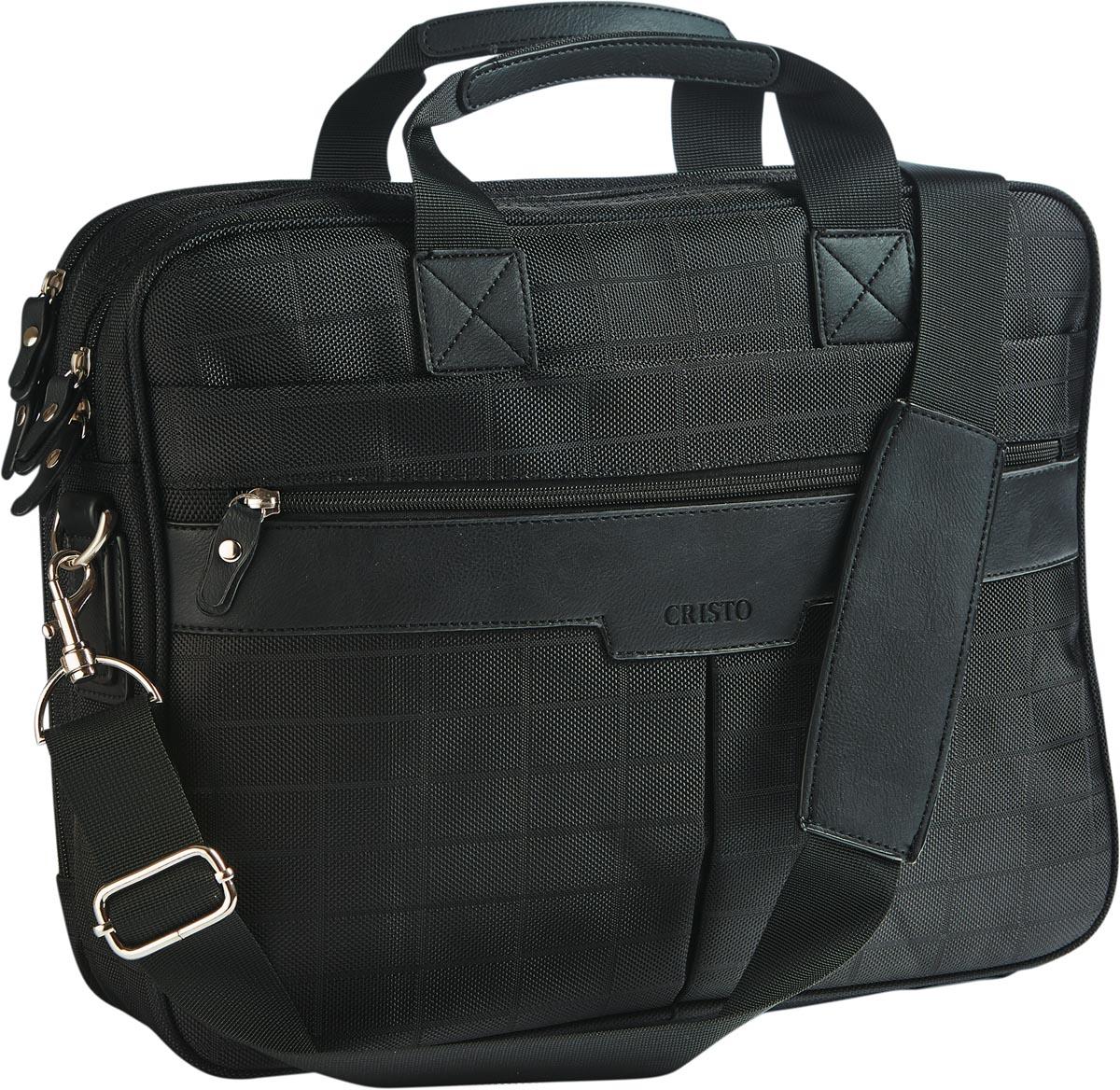 Cristo Portable laptoptas voor 15 inch laptops, zwart