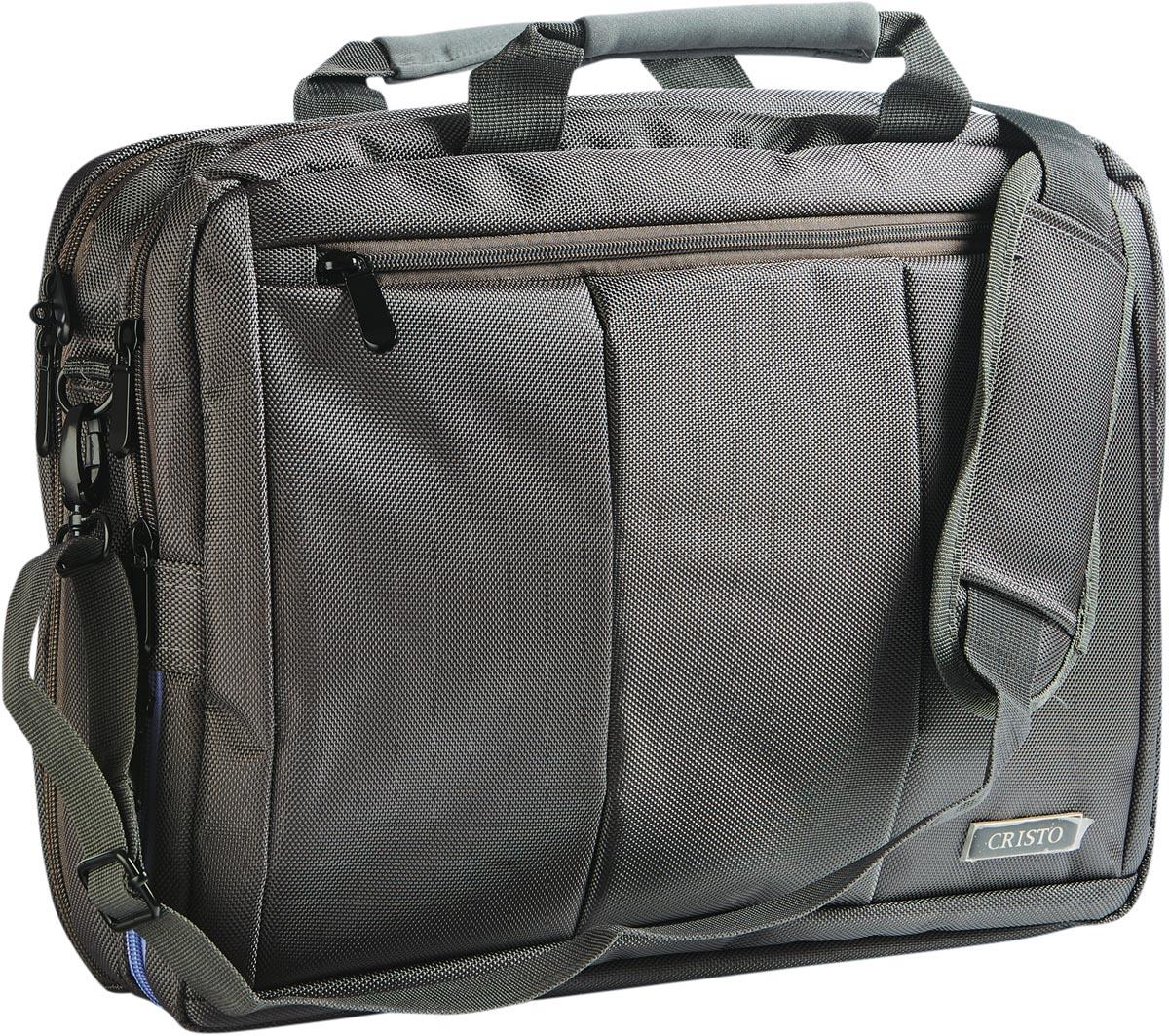 Cristo Portable laptoptas voor 15 inch laptops, 2-in-1, antraciet
