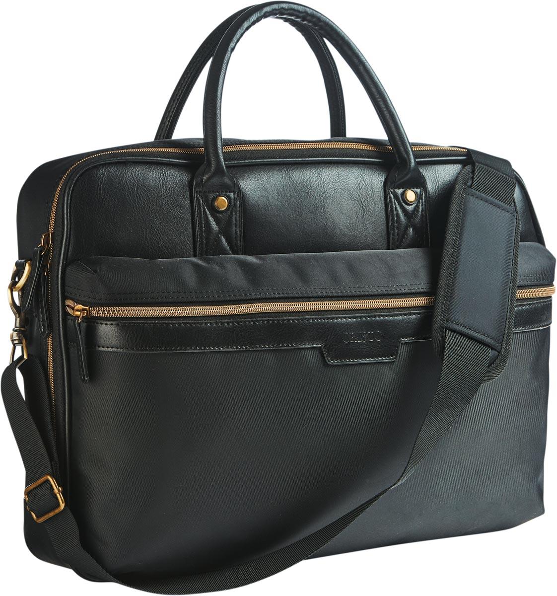 Cristo Urban business tas voor 15 inch laptops, zwart