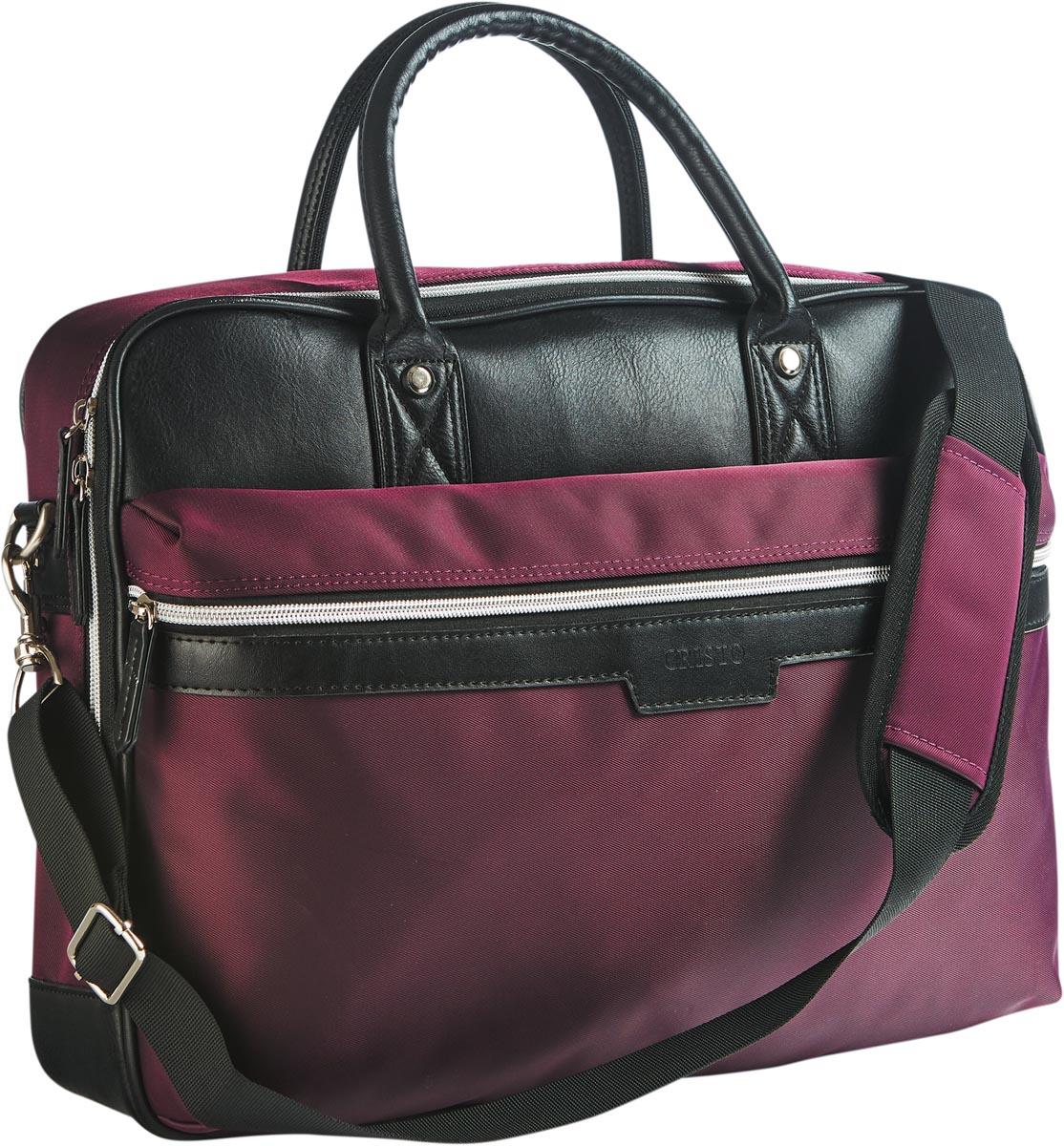 Cristo Urban business tas voor 15 inch laptops, bordeaux
