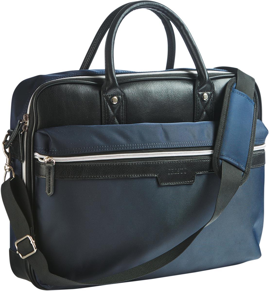 Cristo Urban business tas voor 15 inch laptops, blauw