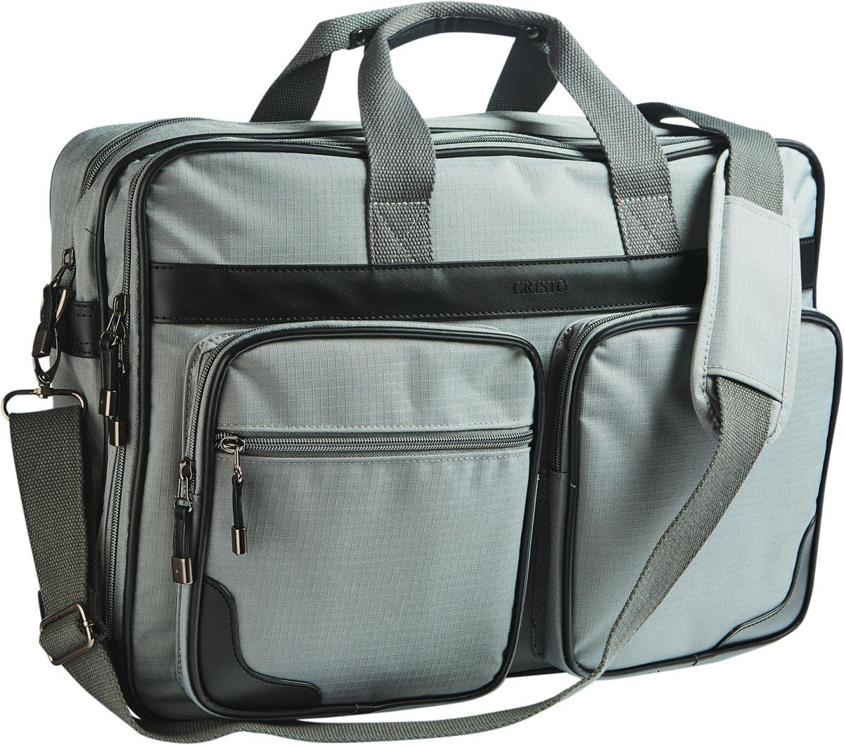 Cristo Urban laptoptas voor 17 inch laptops, grijs