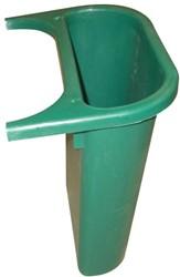 Rubbermaid zijbakje voor recyclagebak 4,5 l, groen