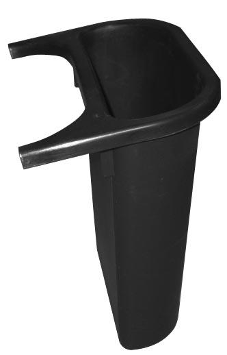 Rubbermaid zijbakje voor recyclagebak 4,5 l, zwart