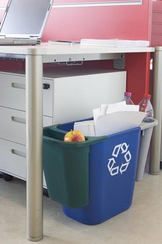 Rubbermaid recylagebak, zonder zijbakjes, 26,6 liter, blauw-2