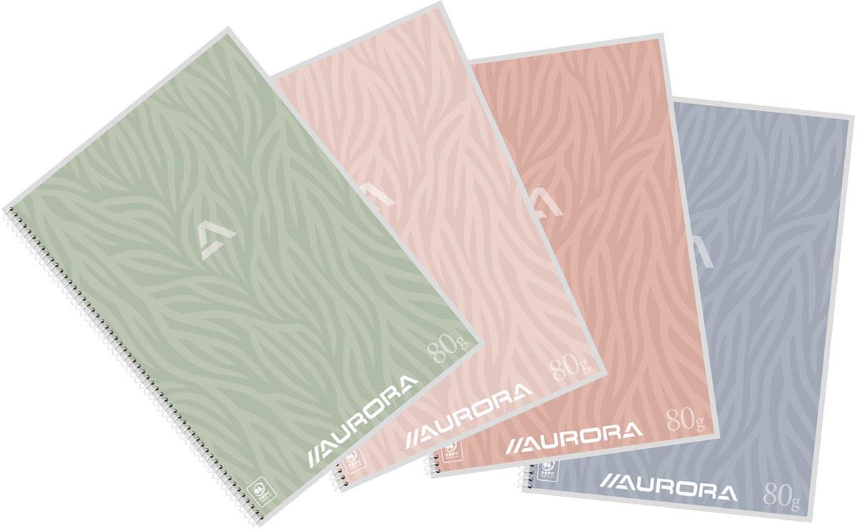 Aurora Writing 80 Design spiraalschrift, ft A4, 120 bladzijden, gelijnd